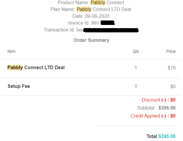 Pabbly Connect Purchase