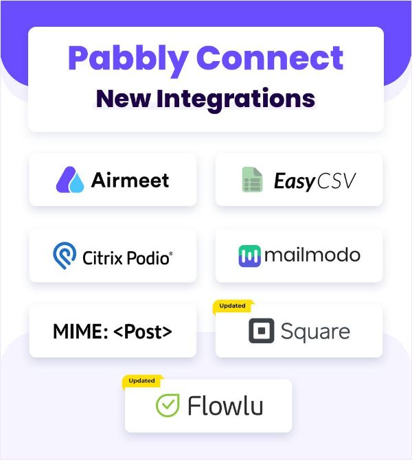 Pabbly New Integrations March 31