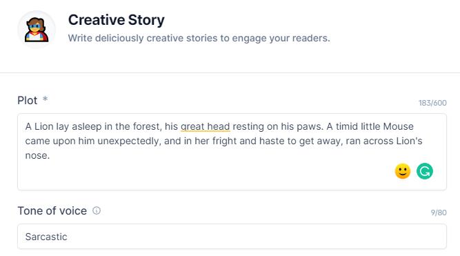 ConversionAI Creative Story Input