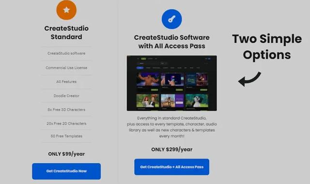 Create Studio Pricing