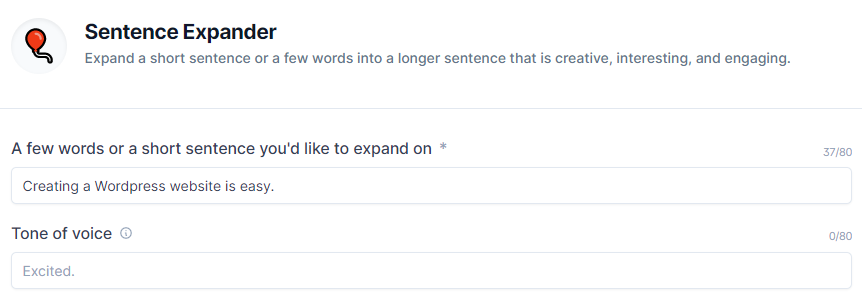 Sentence Expander ConversionAI